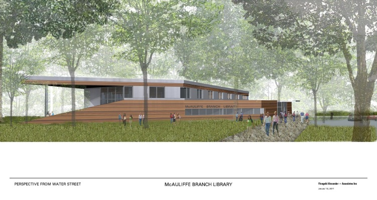 McAuliffe Branch Library Conceptual Rendering