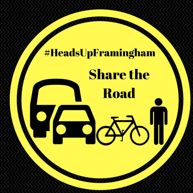 HeadsUpFramingham - Share the Road Image