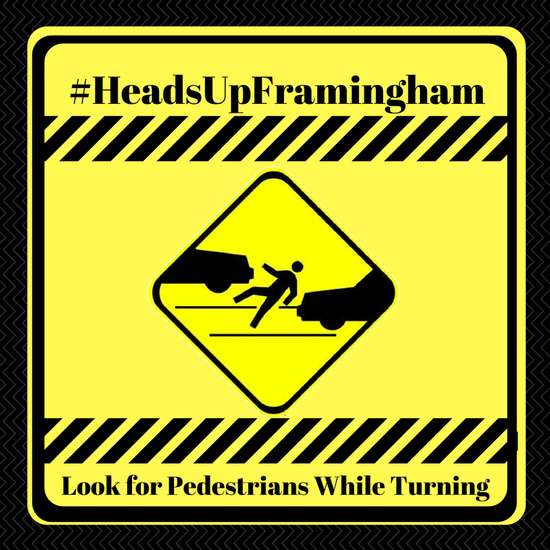 HeadsUpFramingham - Look for Pedestrians While Turning Image