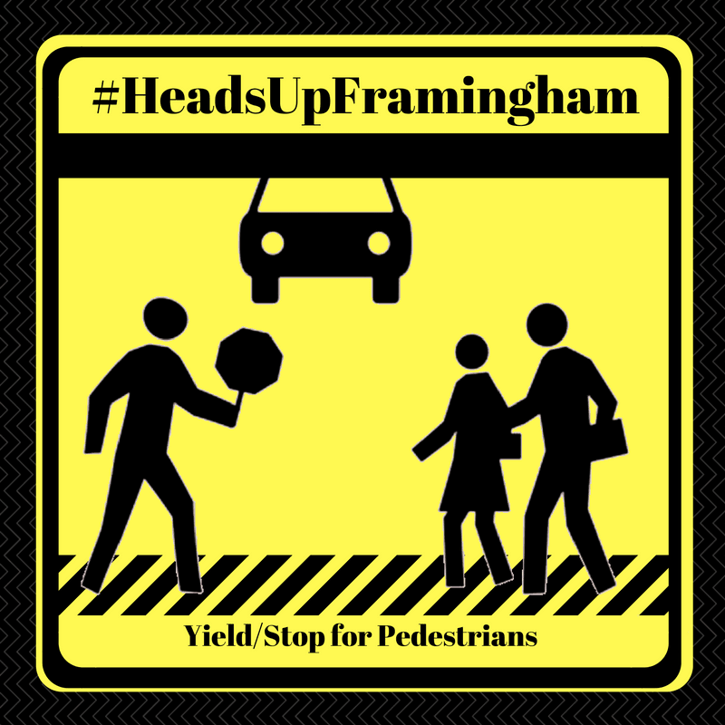 HeadsUpFramingham - Yeild or Stop for Pedestrians Image