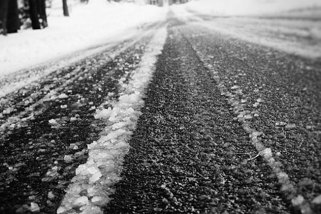Image of slick road