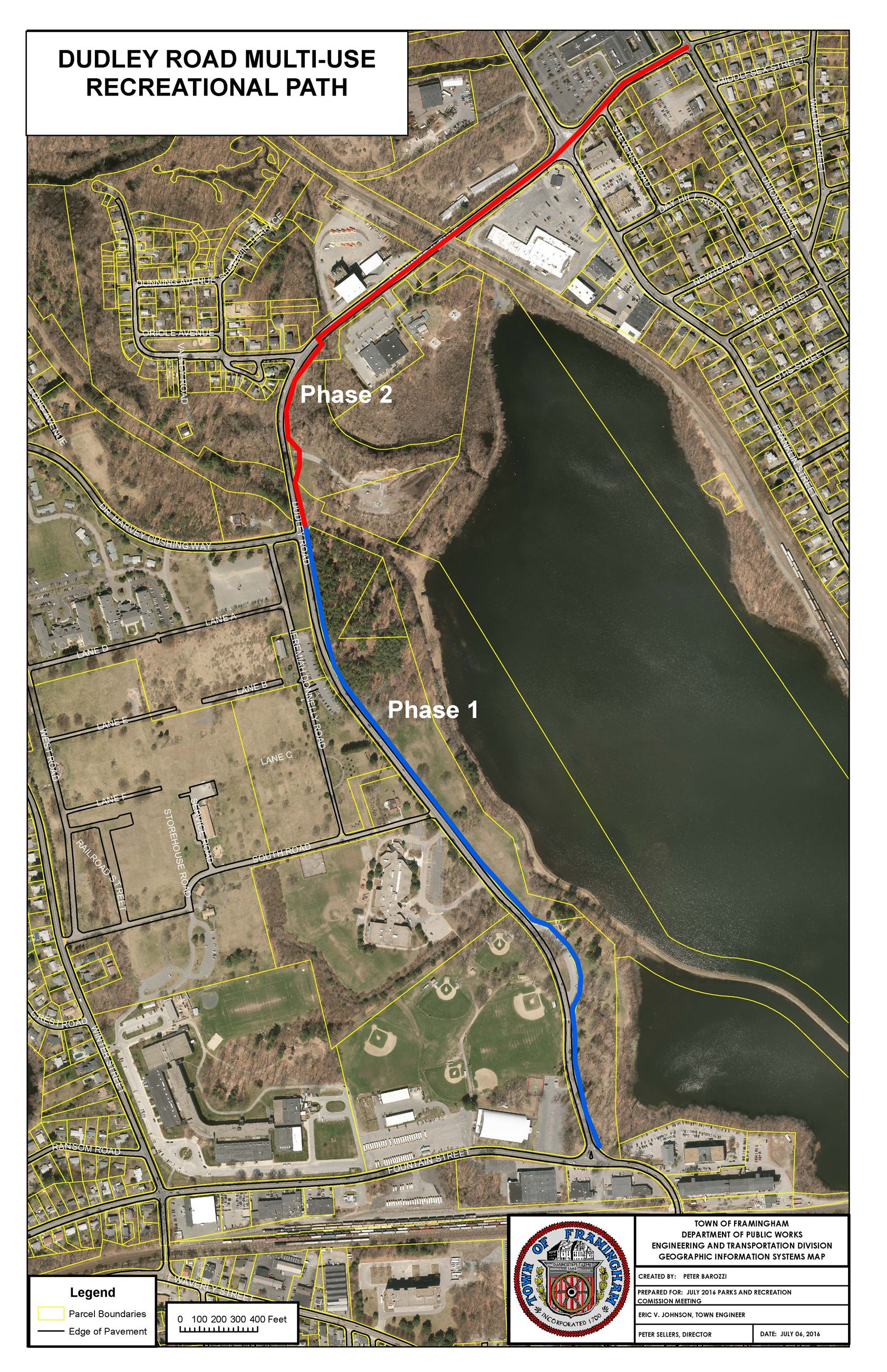 Dudley Road Multi-use Path - Approximate Phasing