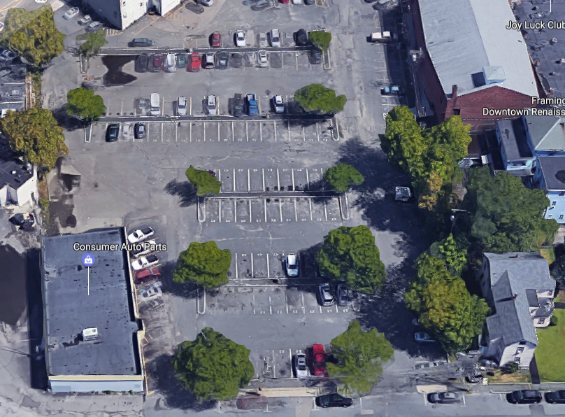Aerial image of Hollis Court Parking Lot
