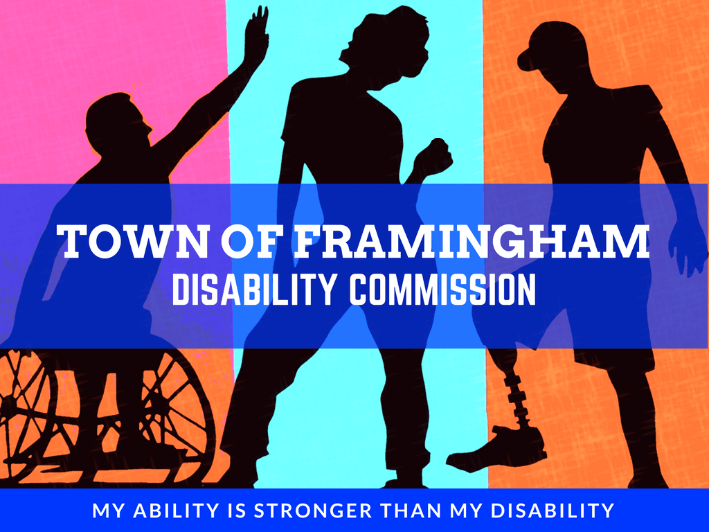 Disability Commission Webpage Logo Featuring Three Individuals with Disabilities