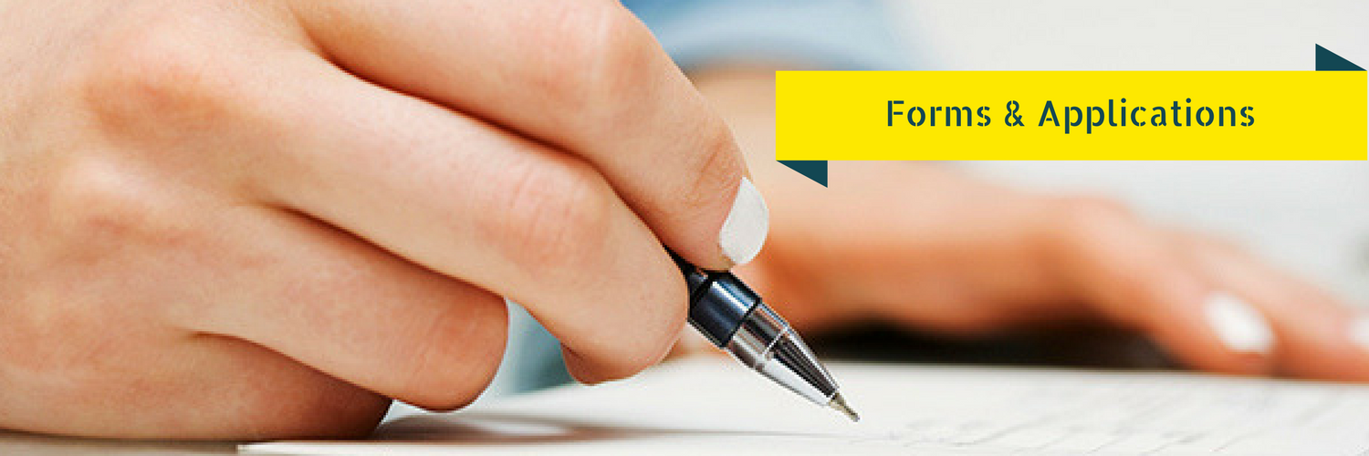 image of someone hand filling out a application with a ball point pen