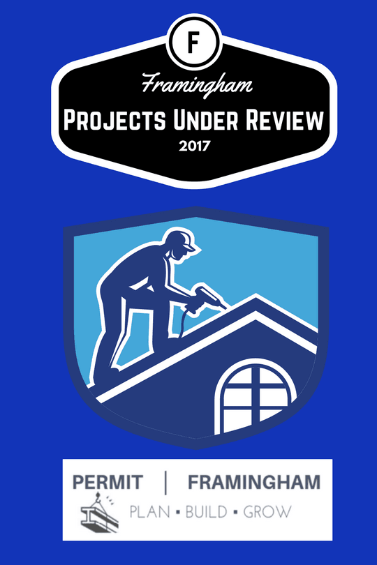 "Image of a man with a hat on drilling into a roof, text reads, ""Projects Under Review 2017."""