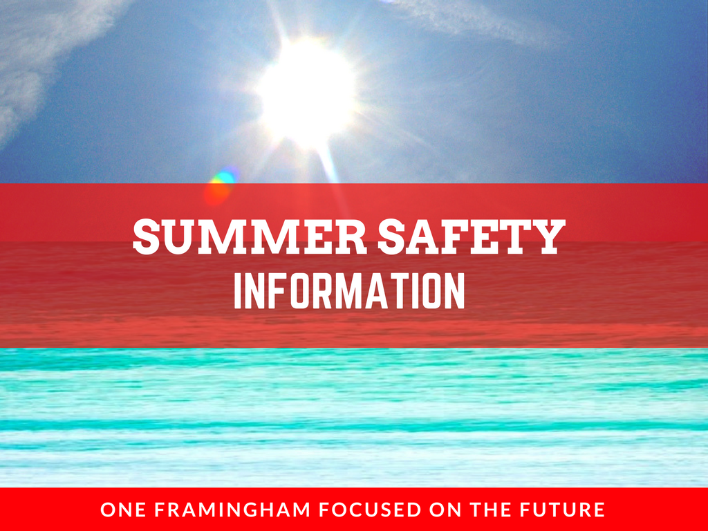 image of banner for summer safety page