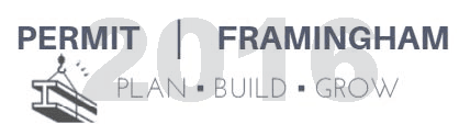 plan build grow logo 2016: text show in navy blue and reads - Permit Framingham: Plan, Build Grow ov