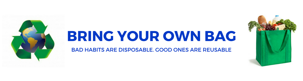 image of bring your own bag banner