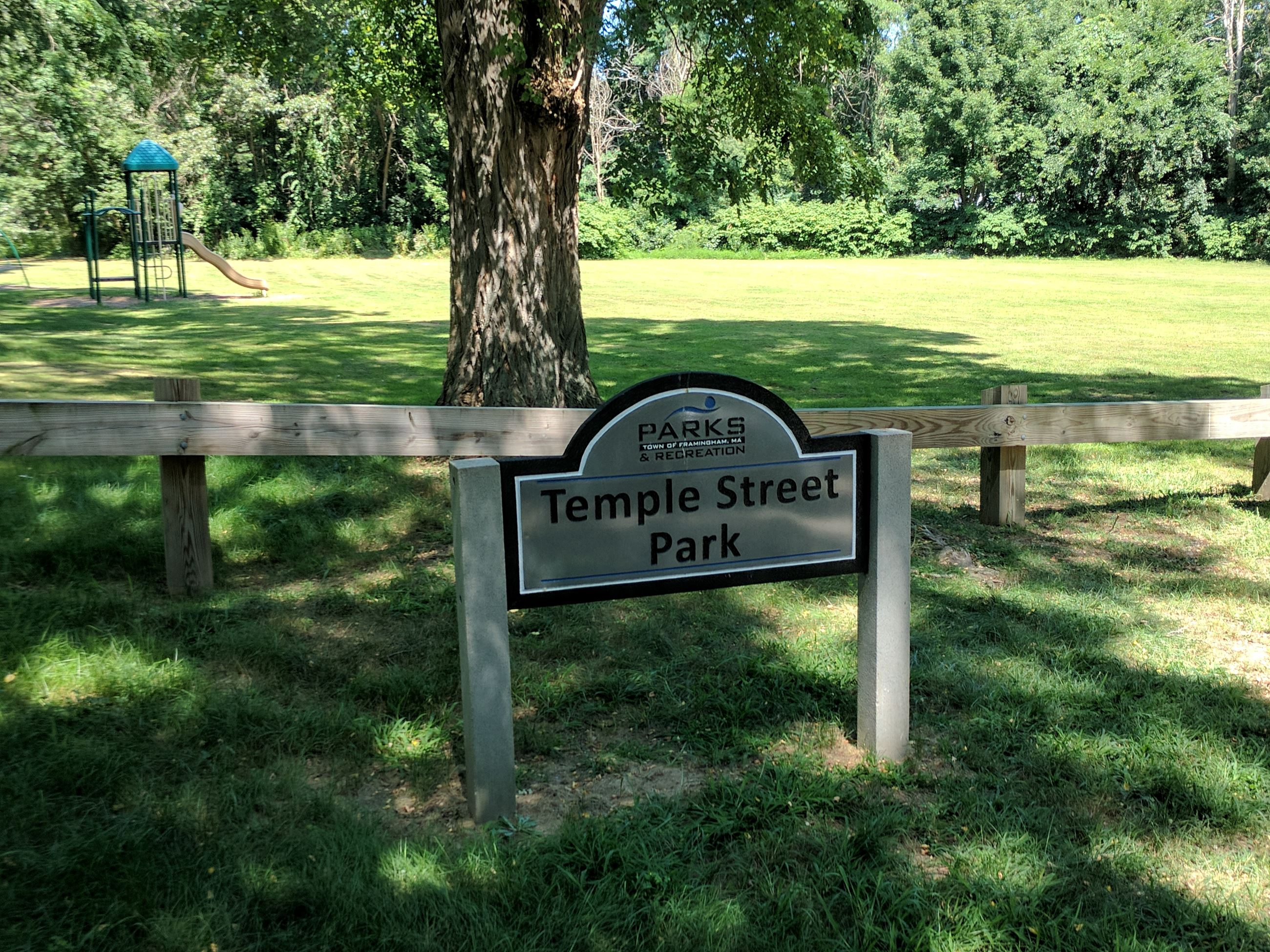 Temple Street Playground and Sign