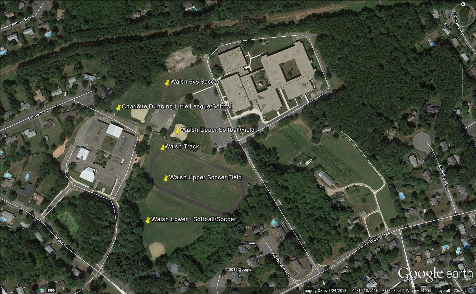 Map of Charlotte Dunning School