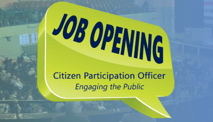 Citizen Participation Officer Position Posting