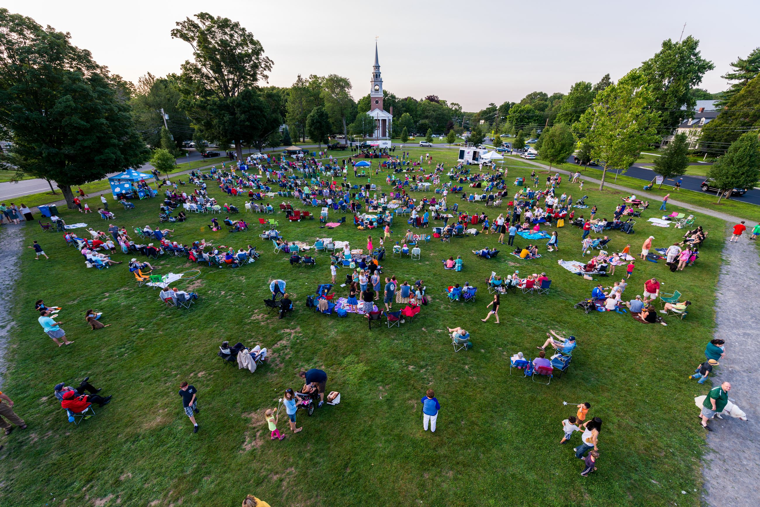 Concerts on the Green drone shot