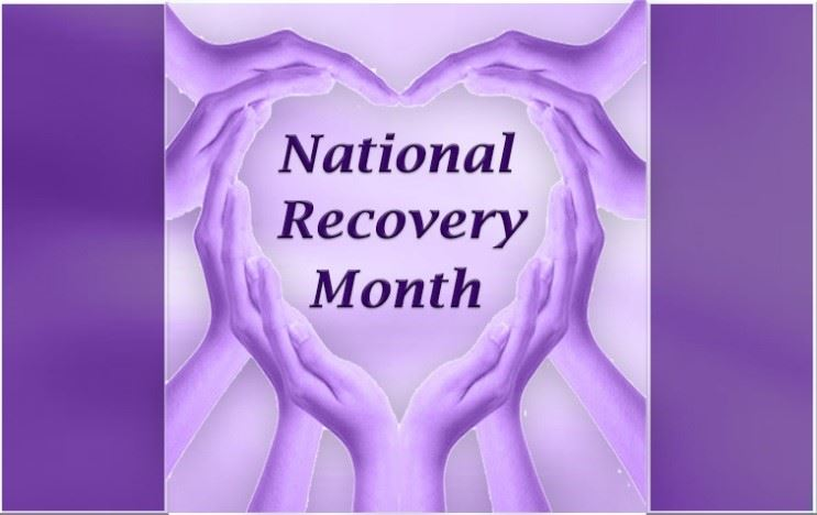 Image showing banner for recovery month