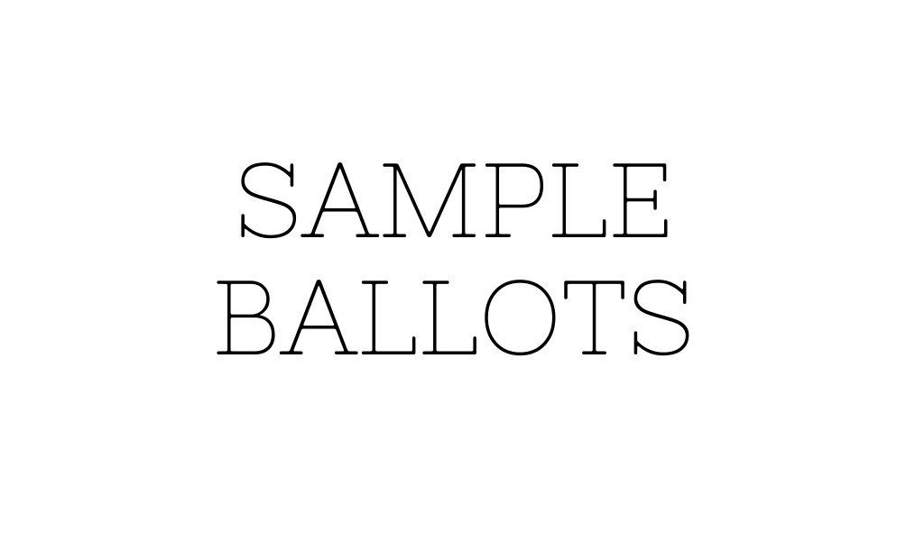 Text: Sample Ballot