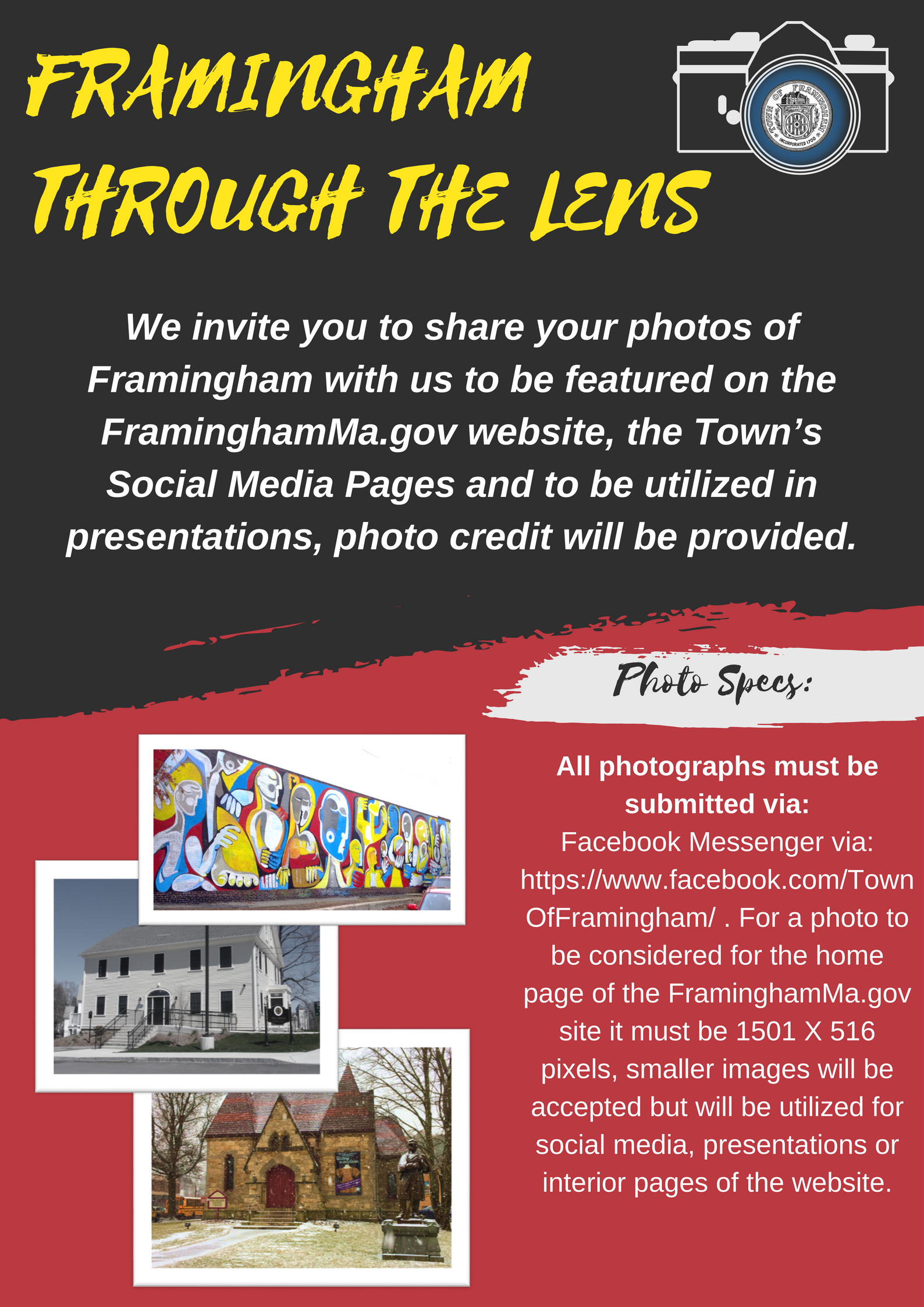 Image of town of framingham photography flyer