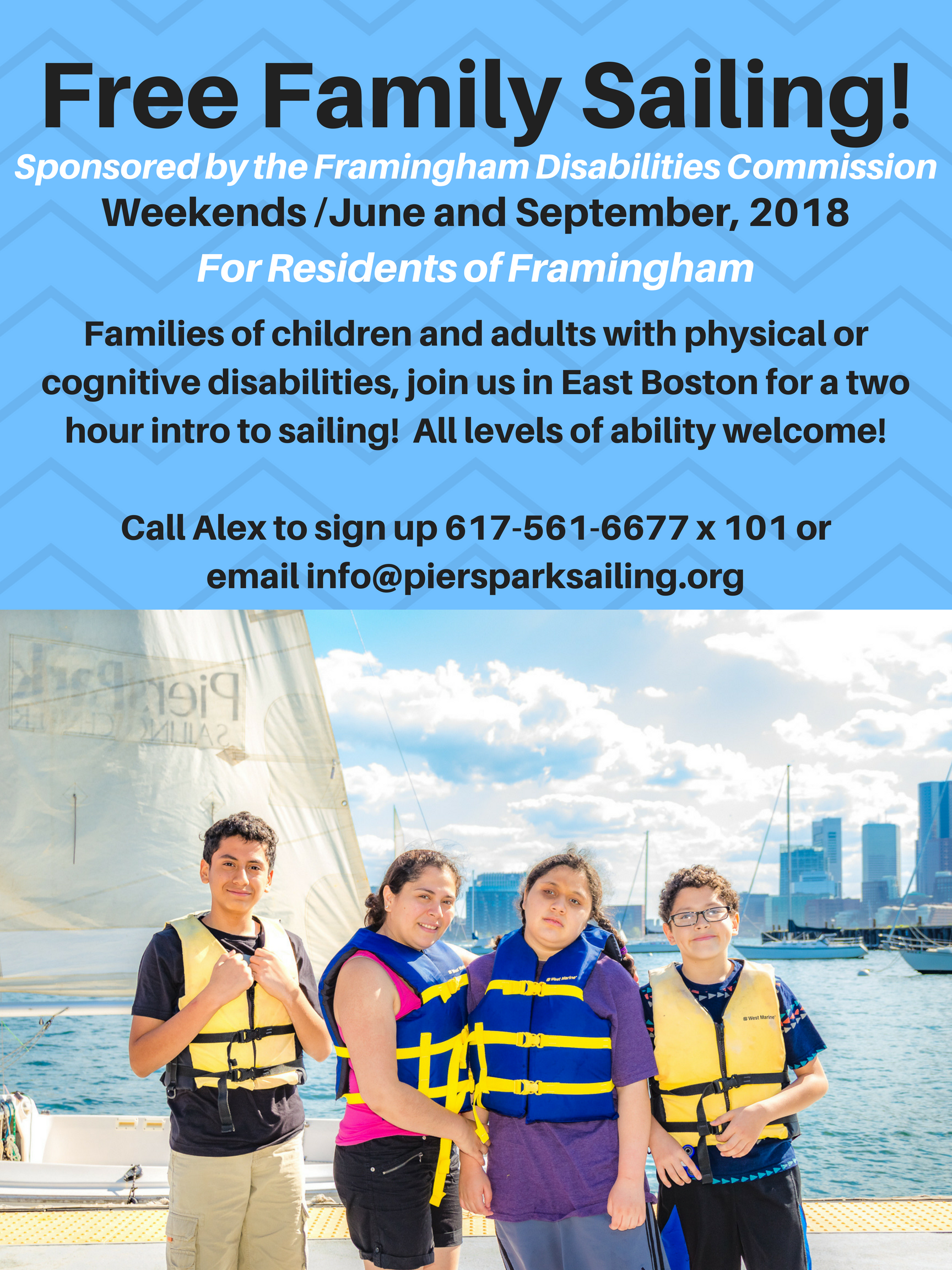 Free Family Sailing Flyer