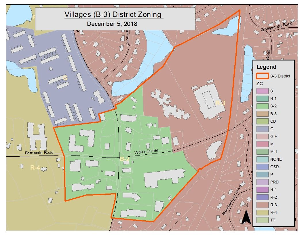 Proposed Zoning Map - B-3 Villages Zone