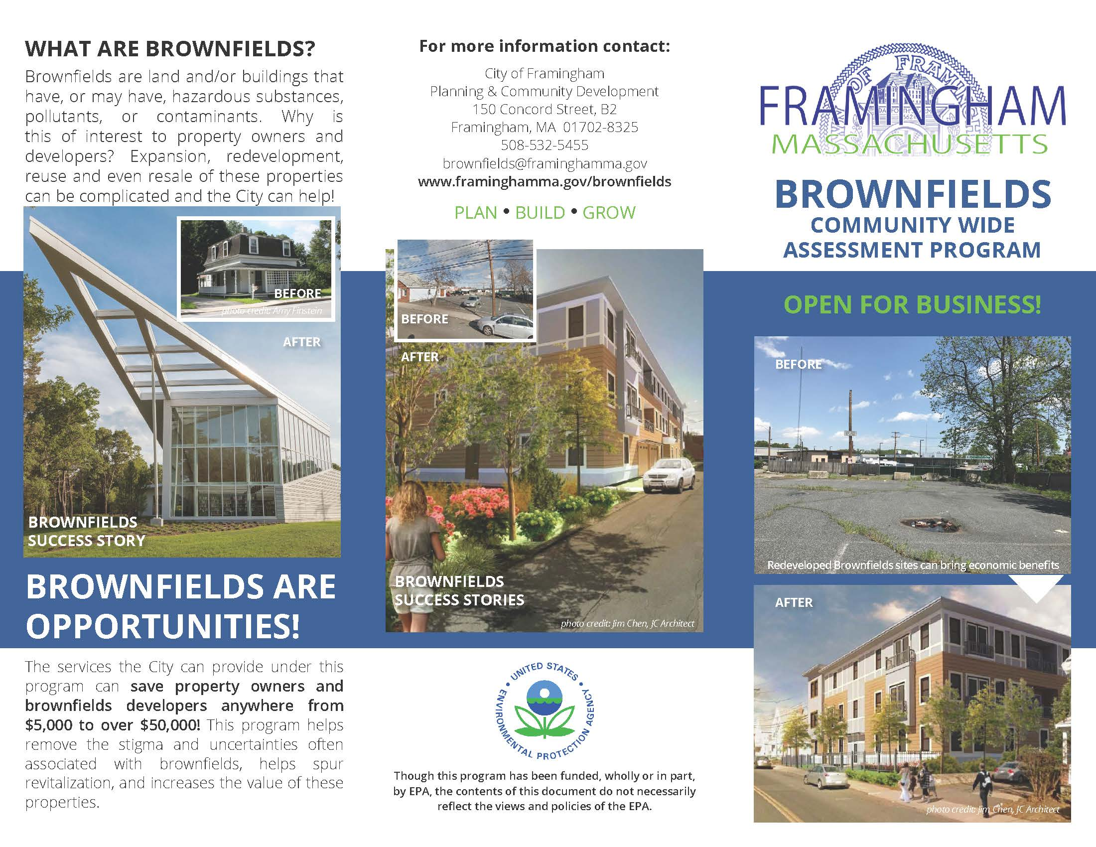Framingham Brownfields Program Brochure cover-image