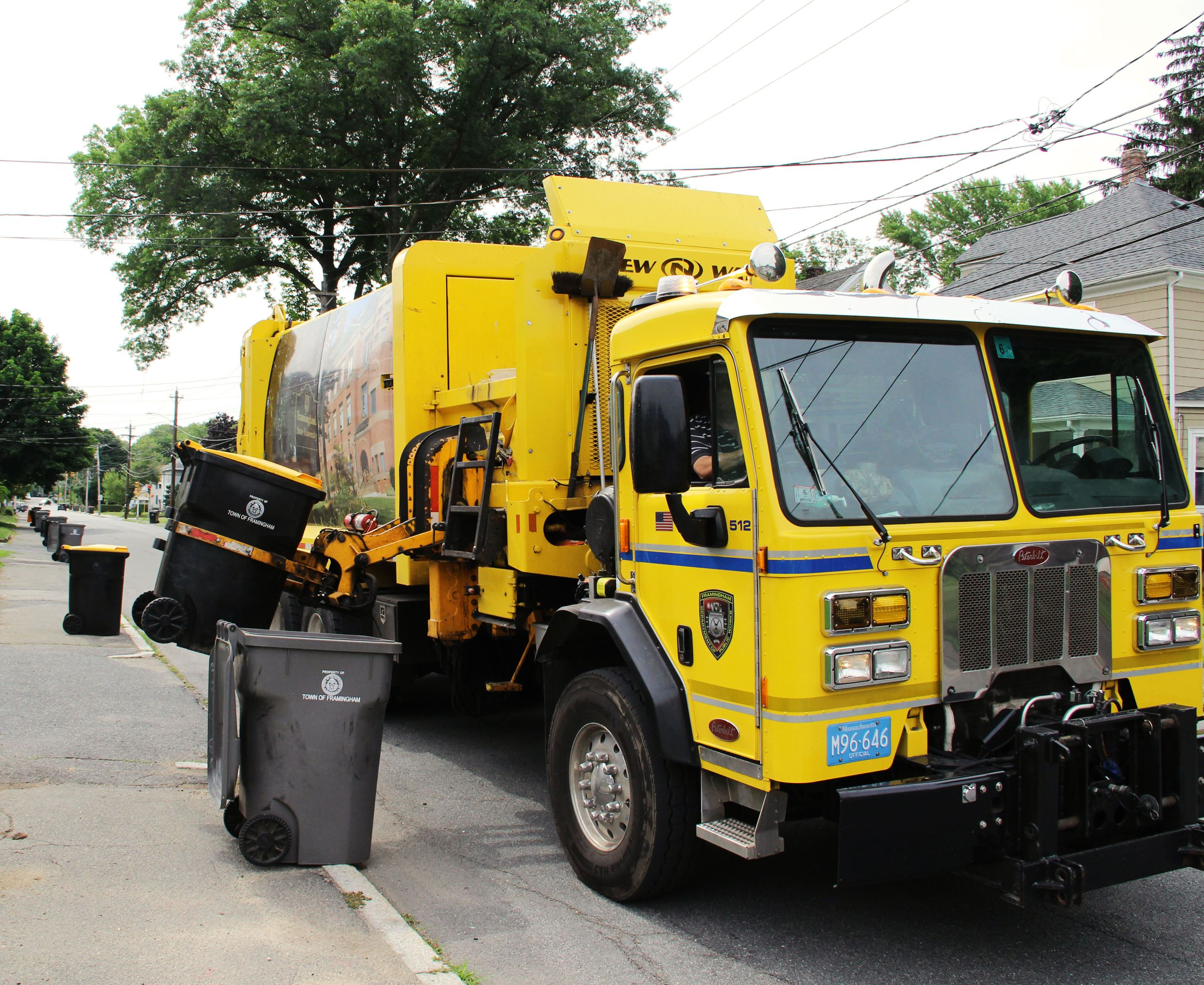 Sanitation Truck Collecting Recyclables
