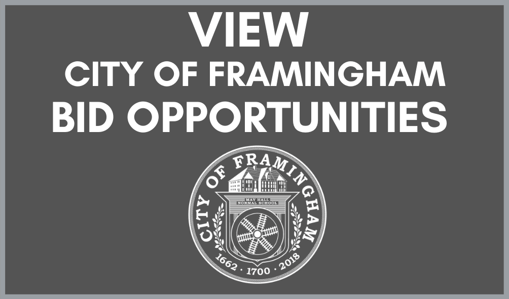 View City of Framingham Bid Opportunities with the City seal Opens in new window