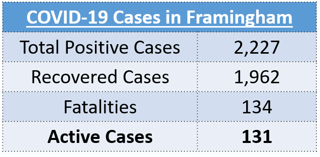 Total Positive Cases: 2,227, Recovered Cases: 1,962, Fatalities: 134, Active Cases: 131