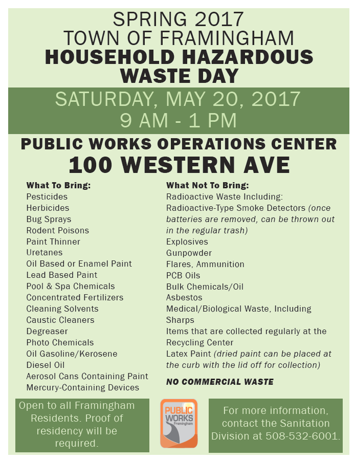 image of flyer for hazardous waste day